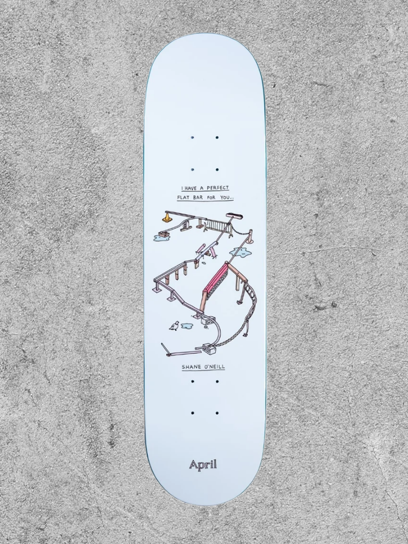 "APRIL SKATEBOARDS APRIL SHANE PERFECT FLAT BAR 8.1"" DECK"