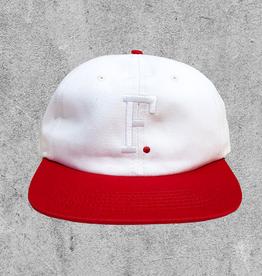 FAMILIA SKATESHOP FAMILIA F. 6 PANEL HAT - OFF WHITE RED
