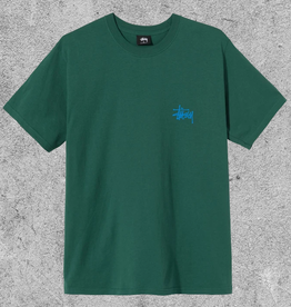 STUSSY STUSSY BASIC TEE - DARK GREEN