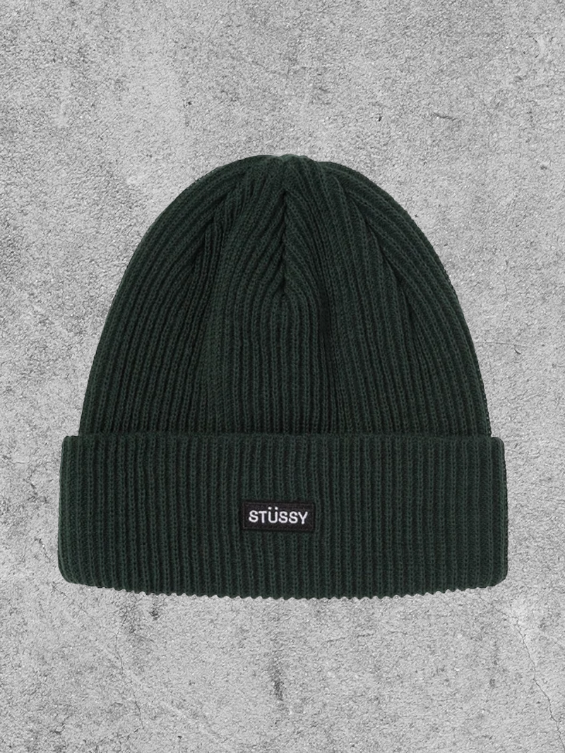 STUSSY STUSSY SMALL PATCH WATCHCAP BEANIE - GREEN