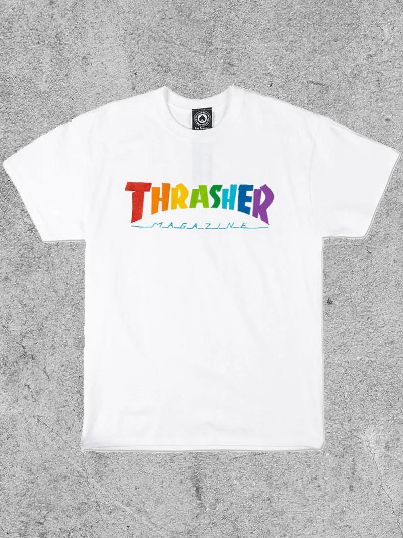 THRASHER MAGAZINE THRASHER RAINBOW MAG TEE