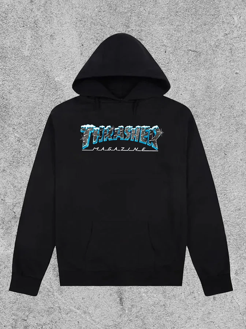 THRASHER MAGAZINE THRASHER BLACK ICE HOODIE