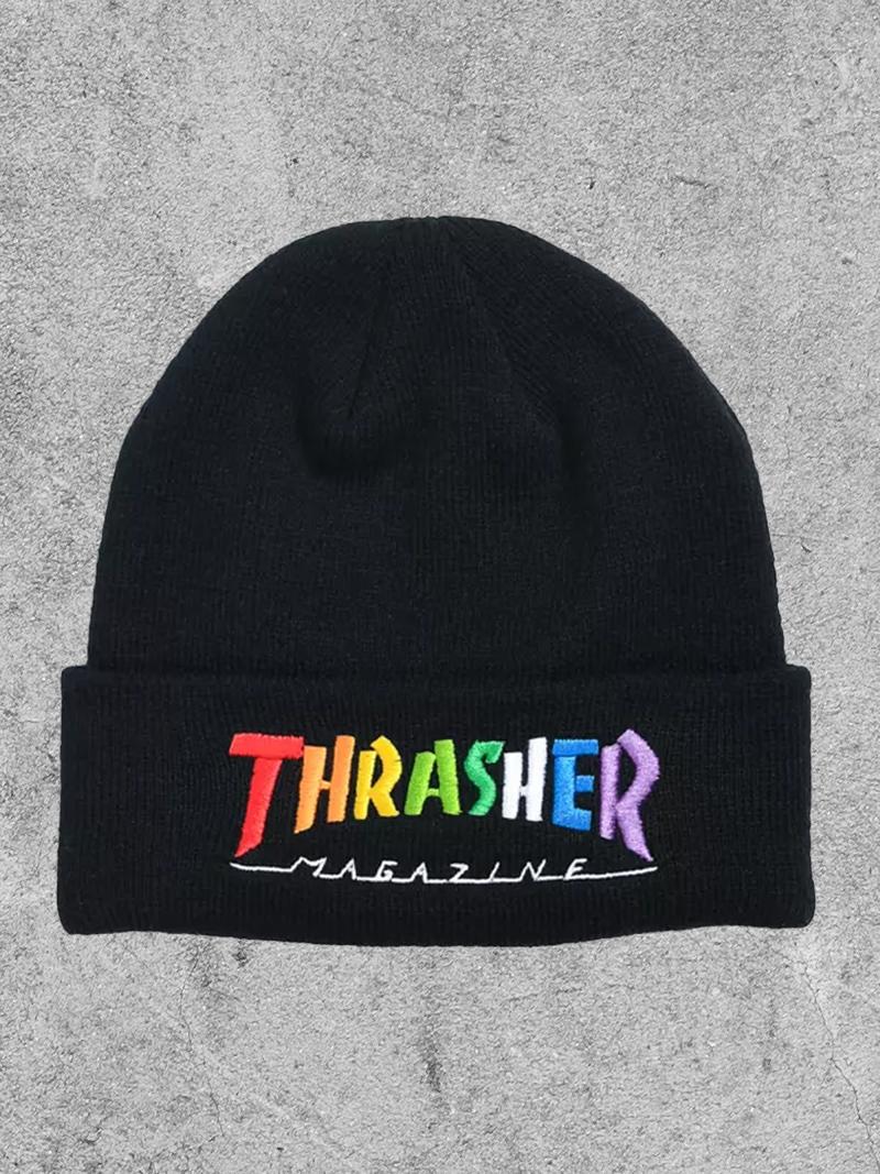 THRASHER MAGAZINE THRASHER RAINBOW MAG BEANIE
