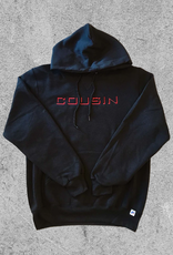 COUSIN RECORDS COUSIN RECORDS FONT HOODIE - BLACK