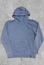 FAMILIA SKATESHOP FAMILIA EMBROIDERED SCRIPT HOODIE - BLUE