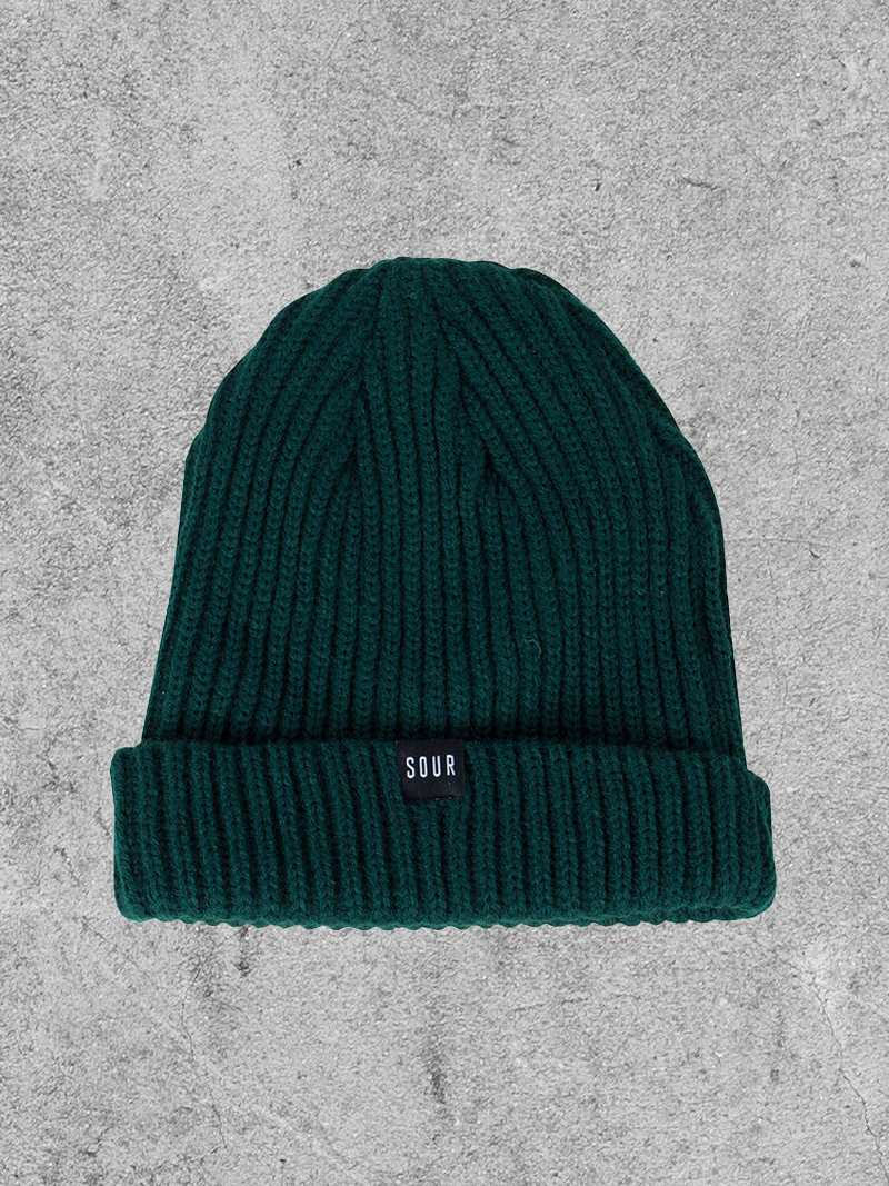 SOUR SOLUTION SOUR SWEEPER BEANIE - GREEN