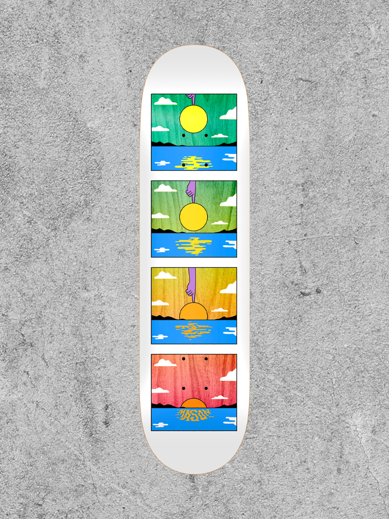 "REAL SKATEBOARDS REAL MASON SUNSET 8.38"" DECK"