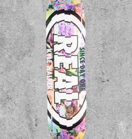 "REAL SKATEBOARDS REAL KWALKS GLITCH OVAL 8.06"" DECK"
