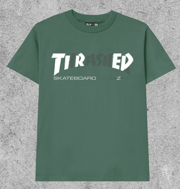 TIRED SKATEBOARDS TIRED X THRASHER COVER TEE - GREEN