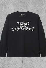 TIRED SKATEBOARDS TIRED X THRASHER DESTROYED L/S - BLACK
