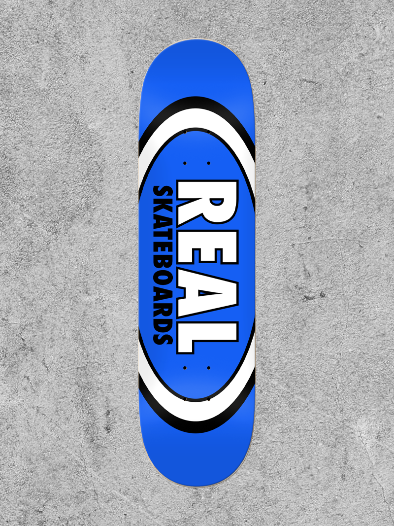 """REAL SKATEBOARDS REAL CLASSIC OVAL 8.5"""" DECK"""
