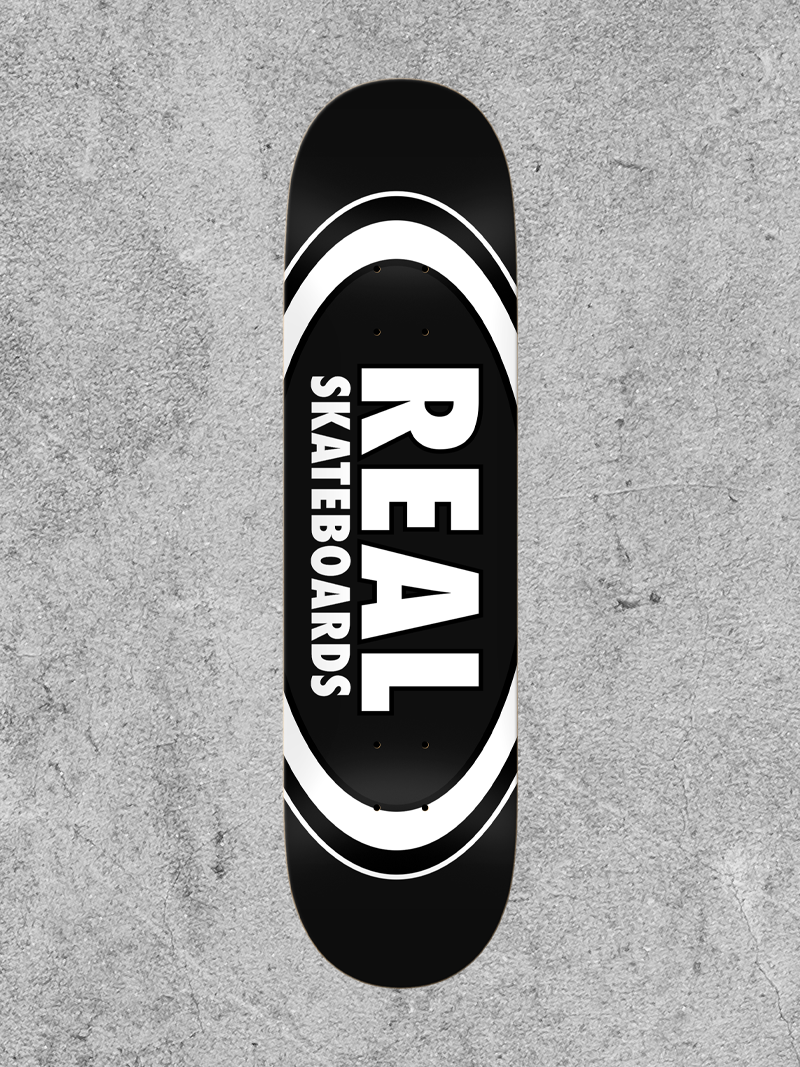"""REAL SKATEBOARDS REAL CLASSIC OVAL 8.25"""" DECK"""
