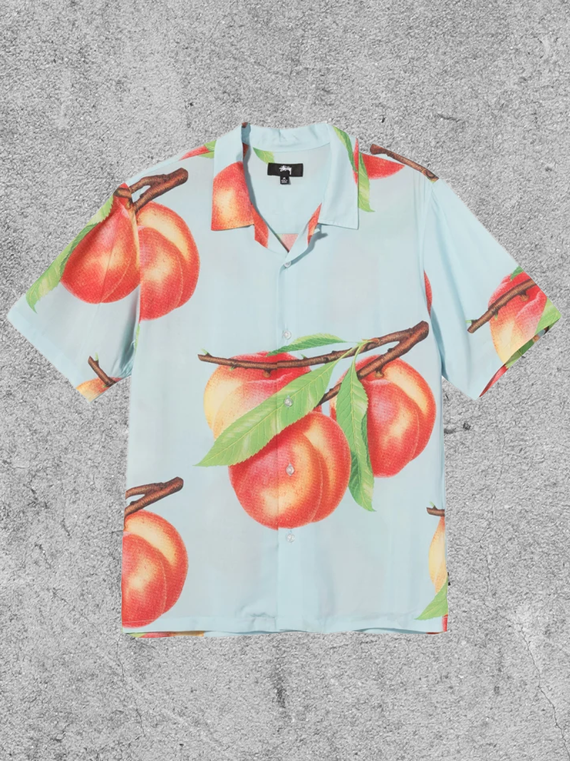 STUSSY STUSSY PEACH PATTERN SHIRT