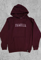FAMILIA SKATESHOP FAMILIA UNIVERSITY HOODIE - MAROON