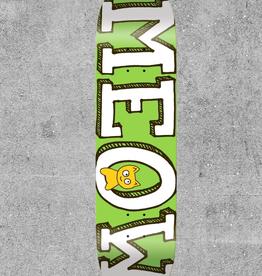 "MEOW SKATEBOARDS MEOW GREEN LOGO 8.25"" DECK"