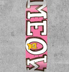 "MEOW SKATEBOARDS MEOW PINK LOGO 8.0"" DECK"