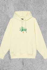 STUSSY STUSSY COPYRIGHT EMBROIDERED HOODIE - PALE YELLOW