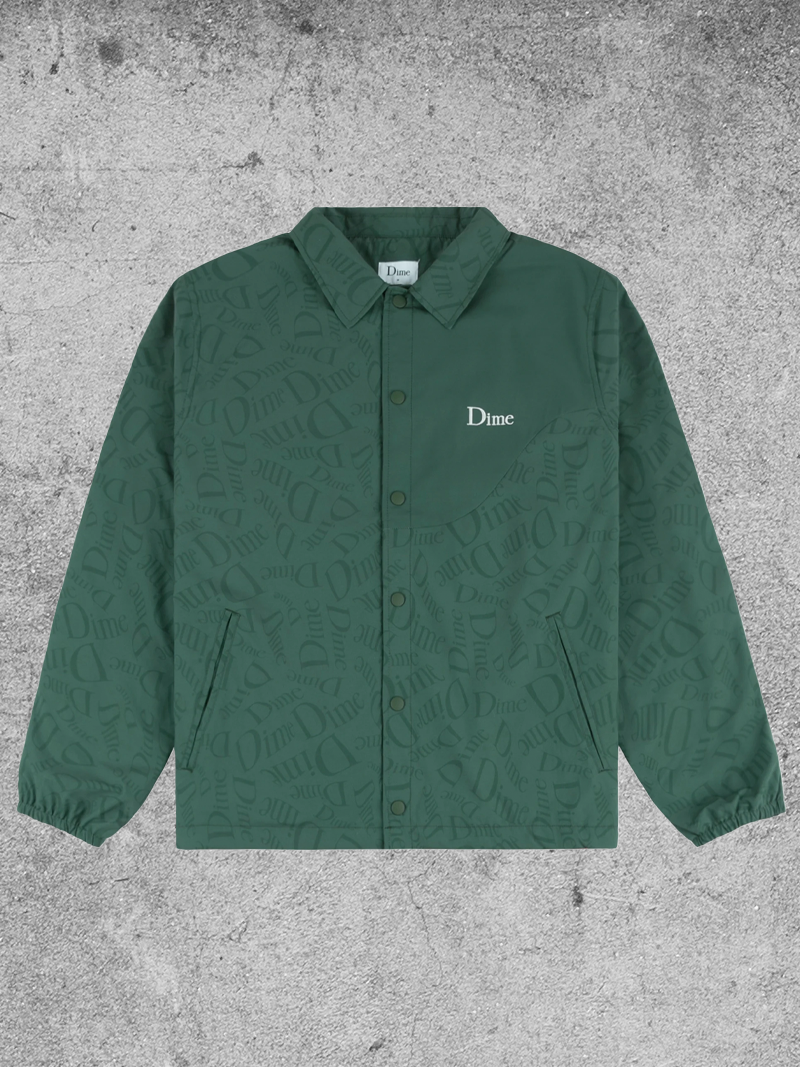 DIME DIME ALLOVER COUCH JACKET - DARK GREEN