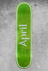APRIL SKATEBOARDS APRIL GREEN LOGO DECK - 8.0
