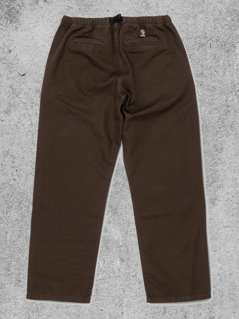 DANCER DANCER BELTED SIMPLE PANT - DIRTY GREEN