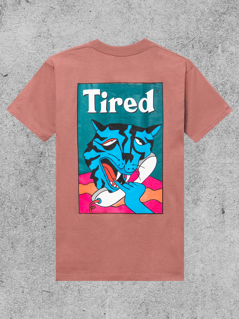 TIRED SKATEBOARDS TIRED CAT CALL TEE