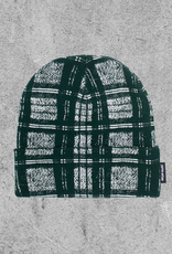 FA ENTERTAINMENT FUCKING AWESOME DISTORTED PLAID BEANIE - GREEN