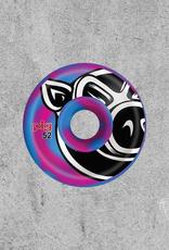 PIG WHEELS PIG WHEELS PIG HEAD C-LINE SWIRL BLUE/PINK 52MM