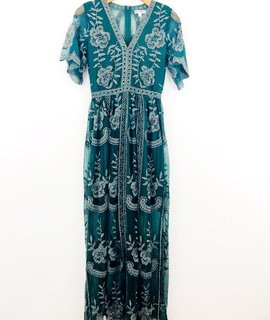 Wild Honey Wild Honey Lace Embroidered Maxi Dress