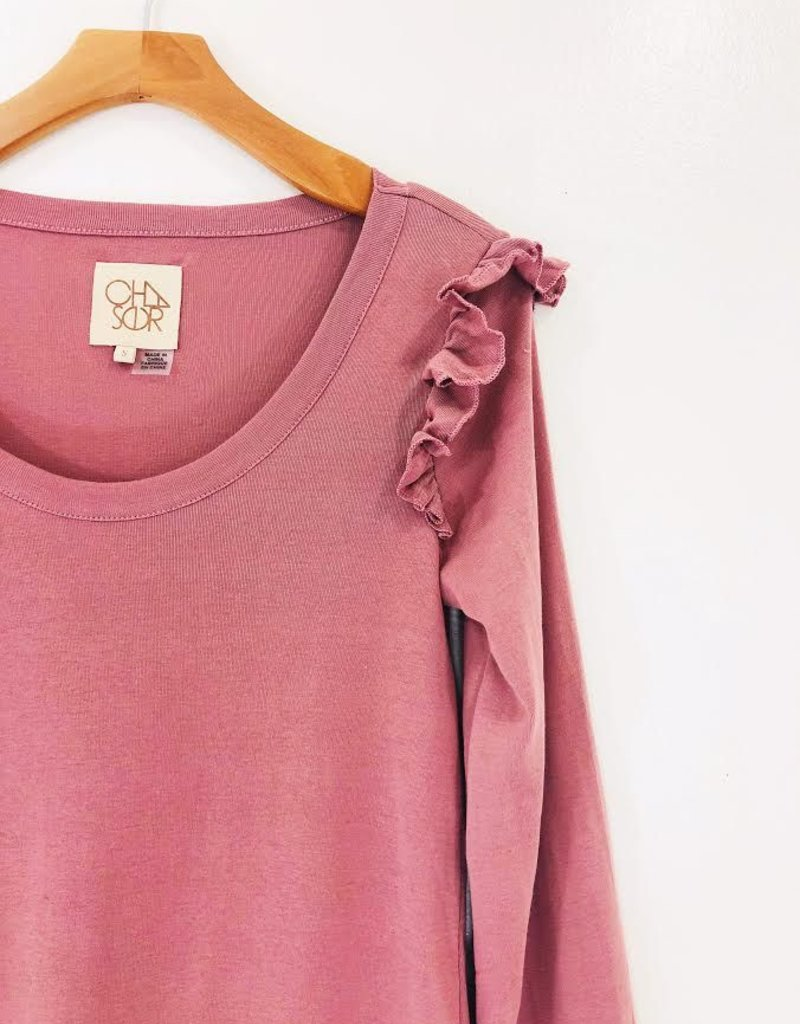 Chaser Brand Chaser Baby Ruffle L/S Pullover