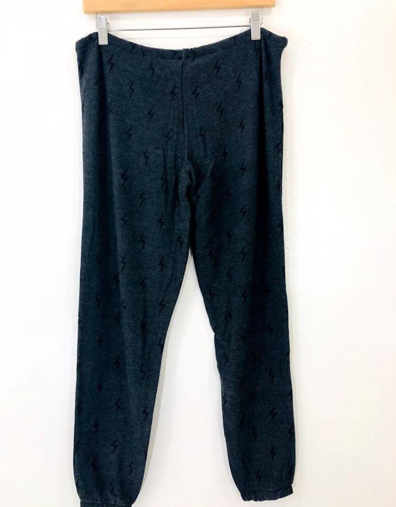 Chaser Brand Chaser Black Bolts Cozy Pant