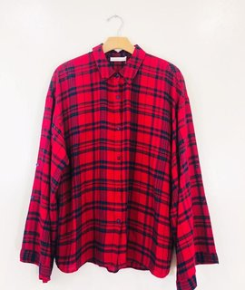 Lush Clothing Lush Risky Business Plaid Button Up