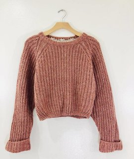POL Clothing Cassidy Cropped Sweater