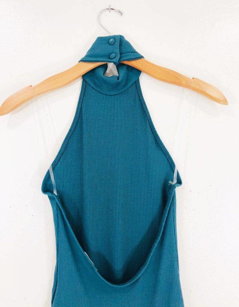 Audrey 3+1 Audrey 3+1 Mock Neck Halter Bodysuit