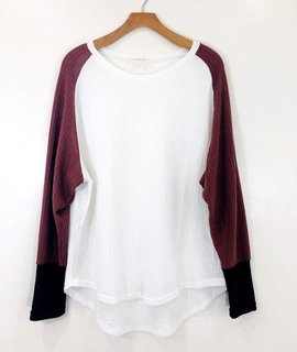 Listicle Color Blocked Waffle Knit