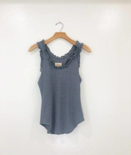 Chaser Brand Chaser Vintage Rib Ruffle Tank