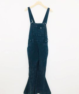 Chaser Brand Chaser Vintage Canvas Flared Overalls