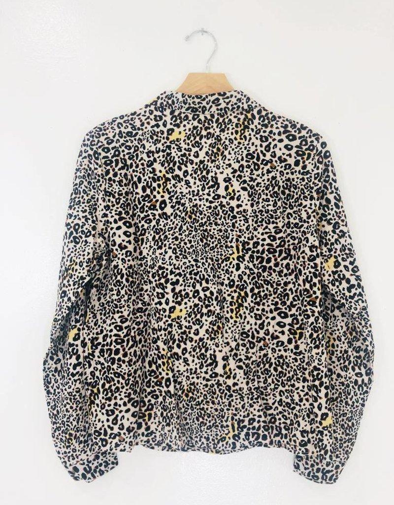 Lush Clothing Lush Leopard Button Down