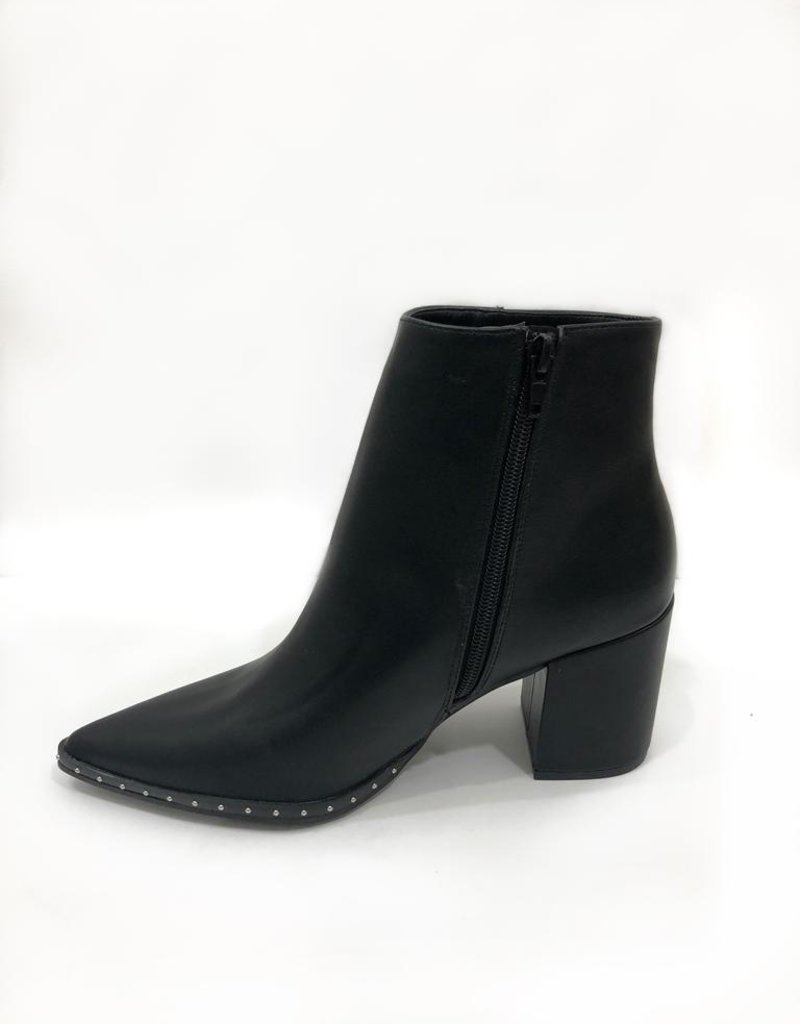 Appleblossom Black Studded Pointed Toe Bootie
