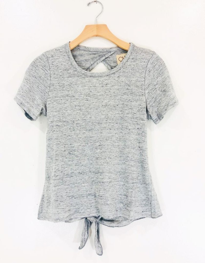 Chaser Brand Chaser Cropped Open Back Tee