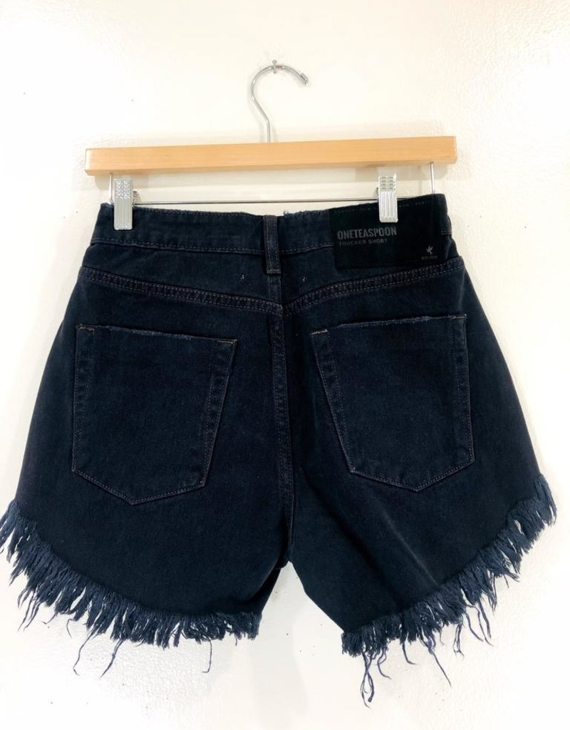 One Teaspoon One Teaspoon Mid Rise Trucker Shorts