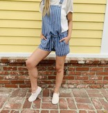 Z Supply Z Supply Pin Stripe Short Overalls