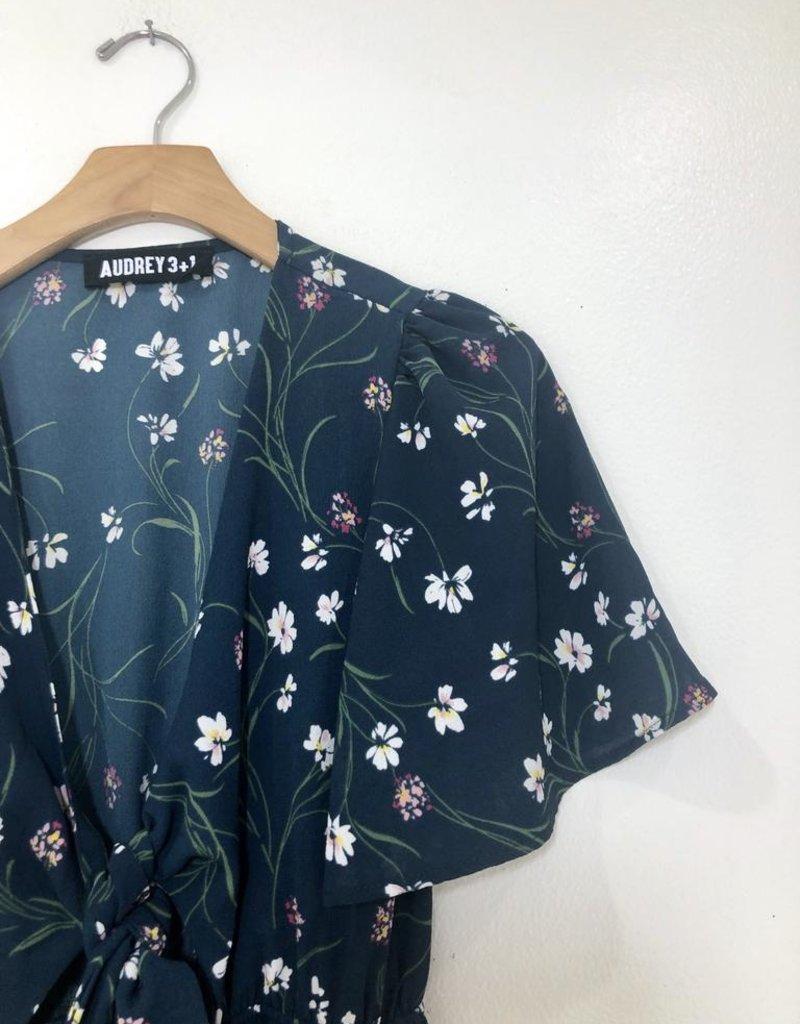Audrey 3+1 Audrey 3+1 Floral Tie Front Dress