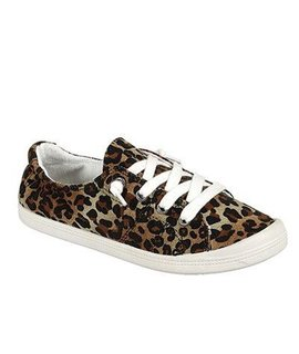 L.A Shoe King Leopard Canvas Sneaker