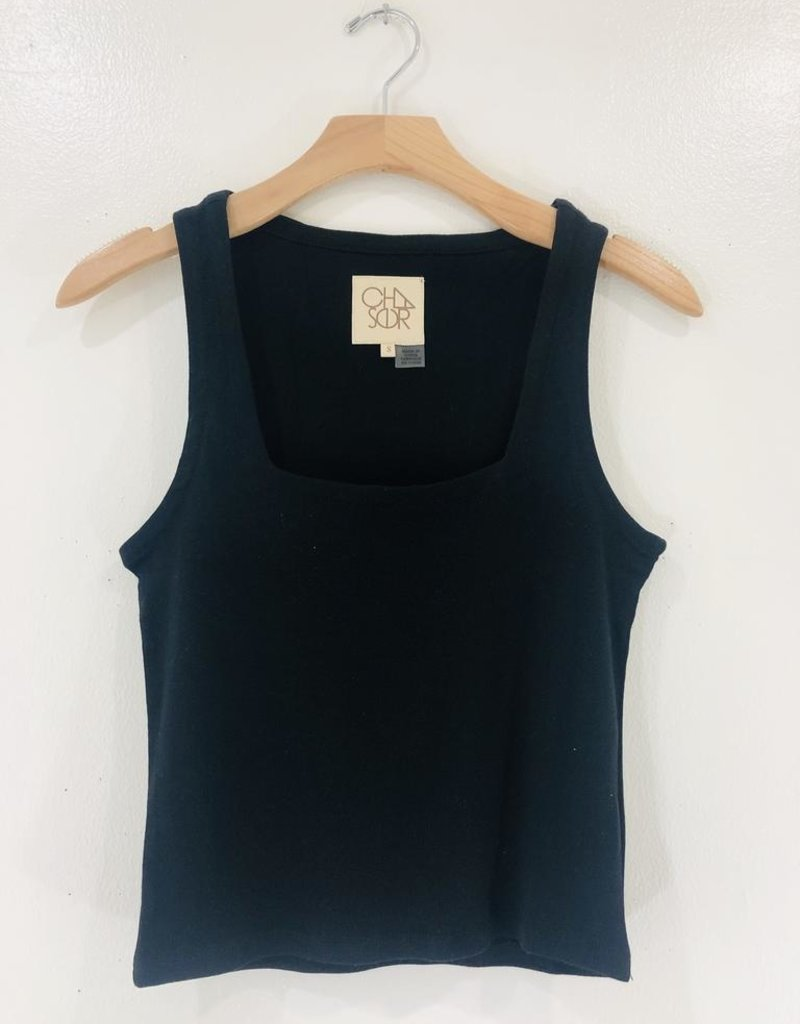 Chaser Brand Chaser Square  Neck Cropped Tank