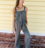 Chaser Brand Chaser Wide Leg Button Front Jumpsuit