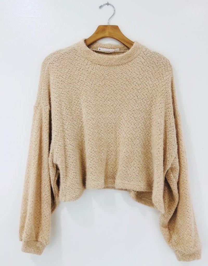 Lush Clothing Lush Latte Cropped Sweater