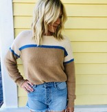 Lush Clothing Lush Color Block Knit Sweater
