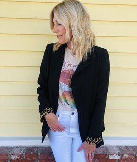 Lush Clothing Lush Leopard Lined Blazer