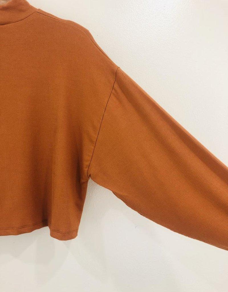 Lush Clothing Lush Mock Neck Long Sleeve
