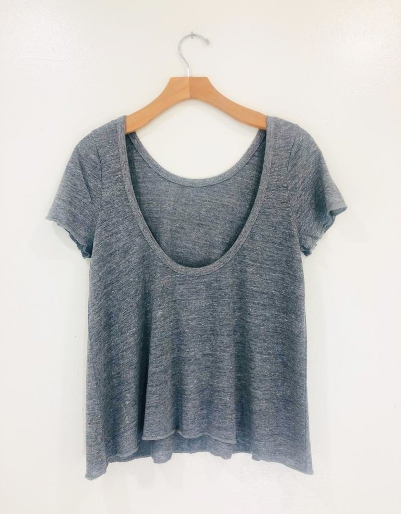 Chaser Brand Chaser Scoop Back Flouncy Tee
